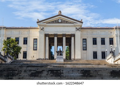 Steps lead to the main entrance of University of Havana in Cuba during November 2015.