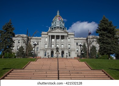 Steps Leading Up to the Colorado State Capitol Building