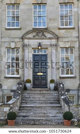 Steps Leading Front Door Exterior Beautiful Stock Photo Edit Now