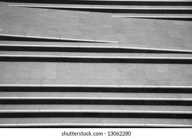 Steps on London embankment