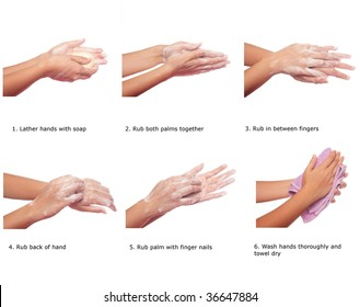 Steps to prevent spread of h1n1 by washing hands correctly
