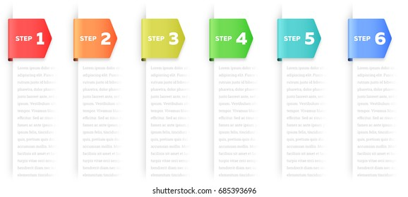 Steps or Process Infographic Element