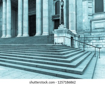 Steps of St. Paul's Cathedral in London, England