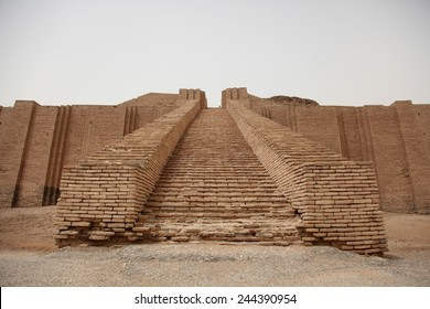 Steps of the Ziggurat of Ur built by the Neo-Sumerians built in the reign of King Nabonidus 556-539 BC on the rubble of an older Sumerian structure constructed by Sumerian King Ur-Nammu ca. 2100 B.C.