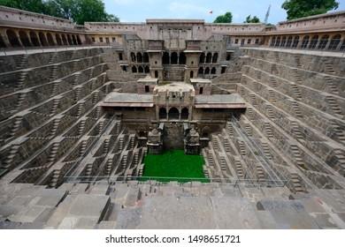 stepwell chand baori in Abhaneri Rajasthan India