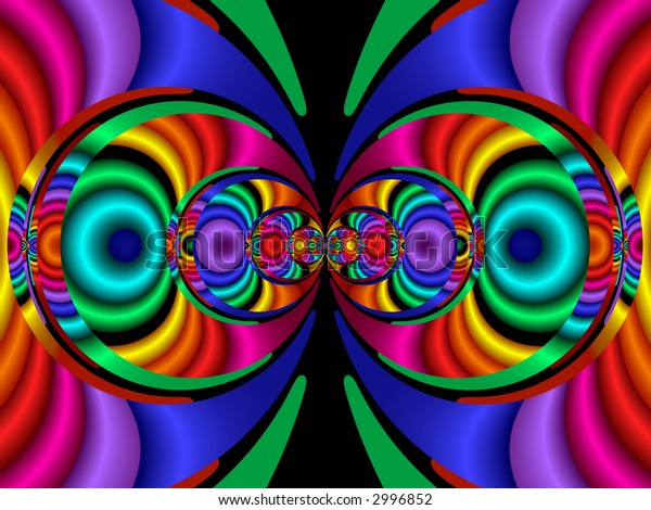 Stereo Colours. Abstract background generated from a fractal design.