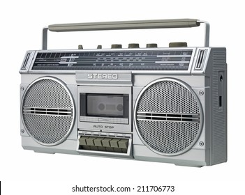 Stereo isolated on a white background