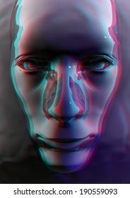 Stereo Liquid Face Render