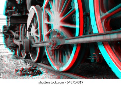 stereographic 3D train
