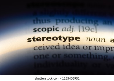 stereotype word in a dictionary. stereotype concept.