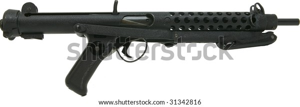 Sterling Machine Gun Folding Stock Isolated Stock Photo