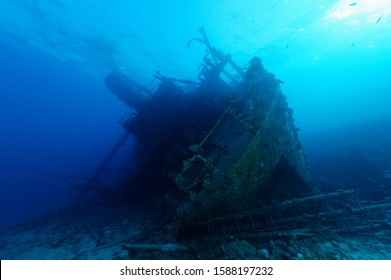 Stern section of popular ship wreck at Abu Nuhas reef