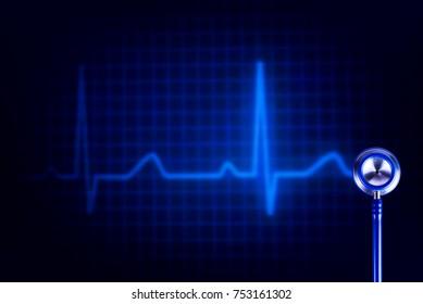 stethoscope background ekg