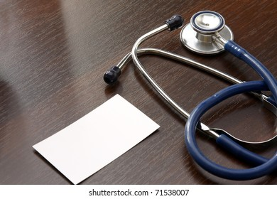 stethoscope and card