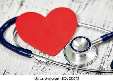 Stethoscope. Checking the heart rate. Medical tool. For your design.  Love