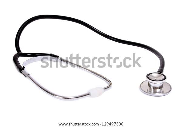 stethoscope isolated on a white background.