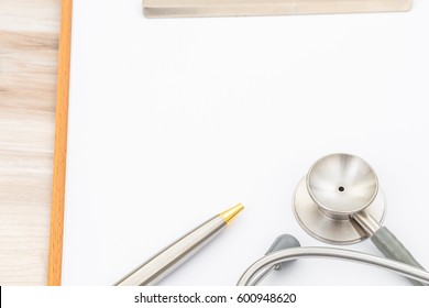 Stethoscope on Patient information.