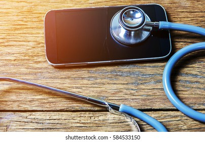 stethoscope on tablet .healthcare concept