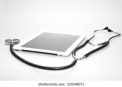 Stethoscope and tablet