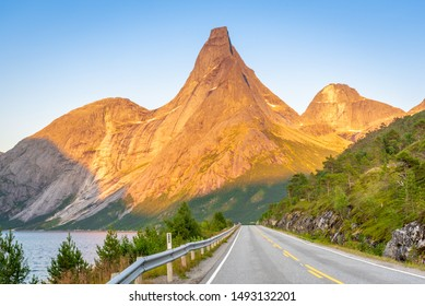 Stetind (1392 m) - Norway's National Mountain in Tysfjord in Nordland Municipality