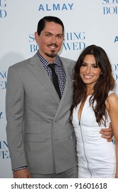 "Steve Howey and Sarah Shahi at the Los Angeles Premiere of ""Something Borrowed,"" Chinese Theater, Hollywood, CA. 05-03-11"