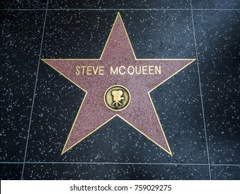 Steve McQueen's Star, Hollywood Walk of Fame - August 11th, 2017 - Hollywood Boulevard, Los Angeles, California, CA, USA