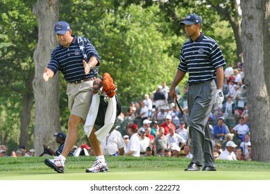 Steve Williams and Tiger Woods - 2004 Ryder Cup