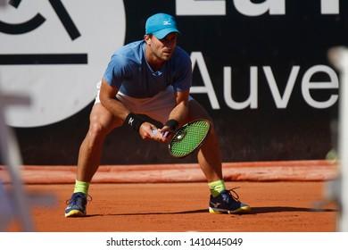 Steven Diez (CAN) during the Open Parc Auvergne-Rhone-Alpes Lyon 2019, ATP 250 Tennis tournament on May 22, 2019 at Parc de la Tete d'Or in Lyon, France