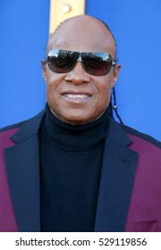 Stevie Wonder at the Los Angeles premiere of 'Sing' held at the Microsoft Theater in Los Angeles, USA on December 3, 2016.
