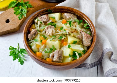 Stew of meat, cabbage and potatoes