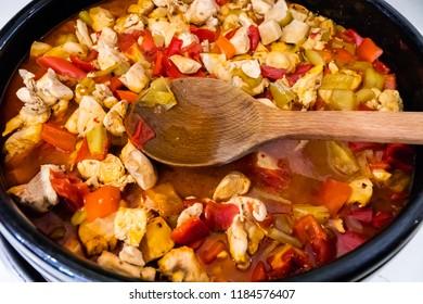Сhicken stew with vegetables