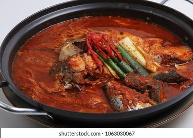 Stewed mackerel kimchi