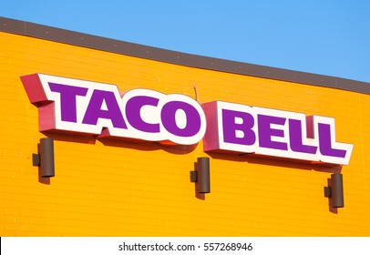 STEWIACKE, CANADA - JANUARY 16, 2017: Taco Bell is a fast food restaurant chain based in California.