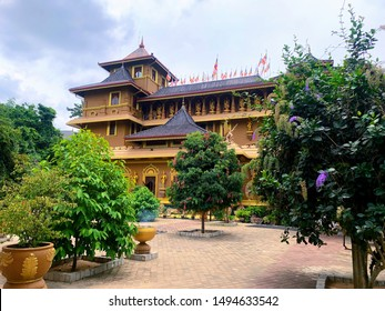 Sti lankan temple   Polgahawela Mahamevnawa Asapuwa - Shutterstock ID 1494633542