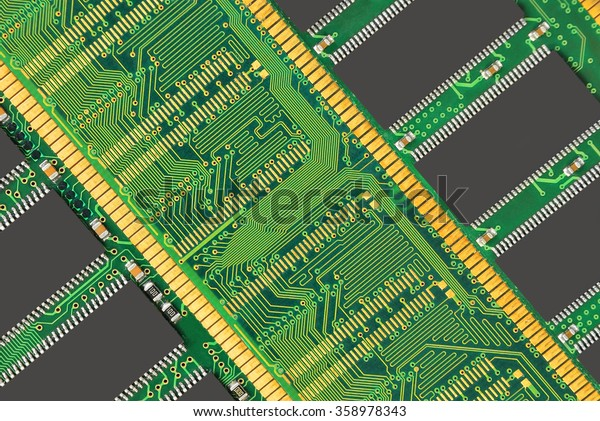 Stick of computer random access memory (RAM) background