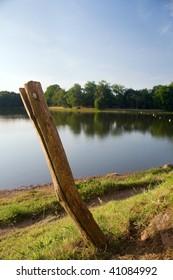 stick and lake