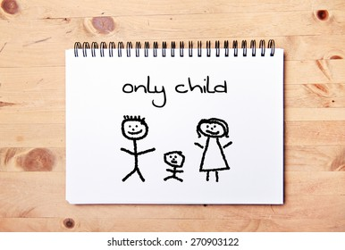 stick man background - drawing block - only child