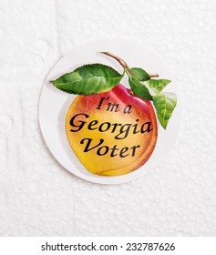 Sticker from polls saying I'm a Georgia Voter