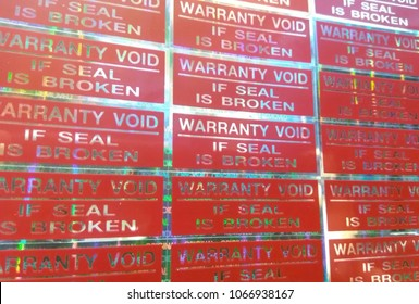 Sticker warranty void if seal is broken