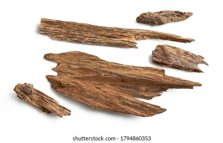 Sticks Of  Agarwood Background. The Incense Chips Used by burning for incense & perfumes of essential oil as Oud or Bakhoor