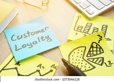 Sticks with customer loyalty program on an office table.