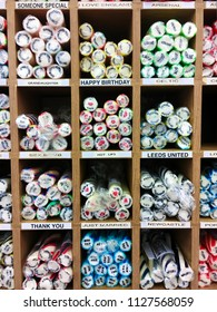 Sticks of rock in a souvenir store in the UK