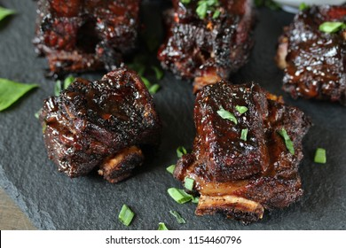 STICKY BEEF SHORT RIBS. Sweet BBQ