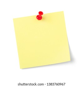 A sticky note with copy space on a white background