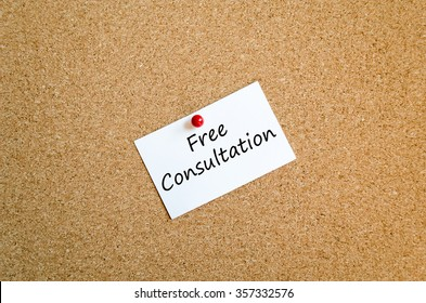 Sticky Note On Cork Board Background And concept free consultation