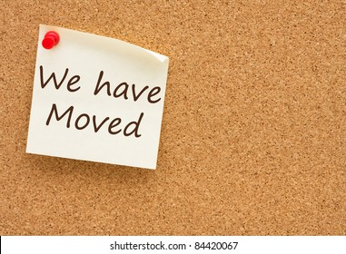 We Have Moved Images Stock Photos Amp Vectors Shutterstock