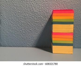 Sticky Note Stack of Color Cropped Right