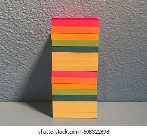 Sticky Note Stack Cropped Center