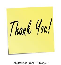Sticky note - Thank you!