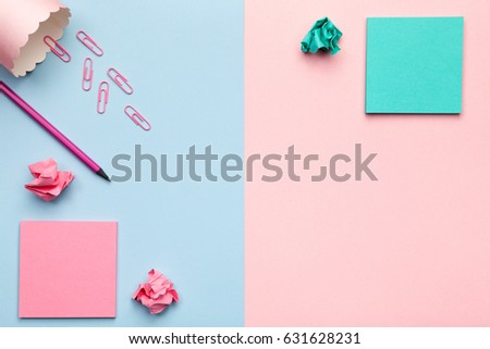 Sticky Notes Crumbled Paper Balls Office Stock Photo Edit Now